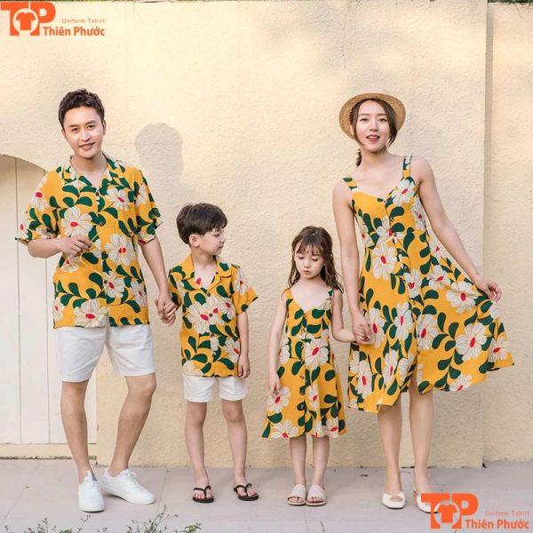 mẫu áo gia đình đi dã ngoại mùa hè