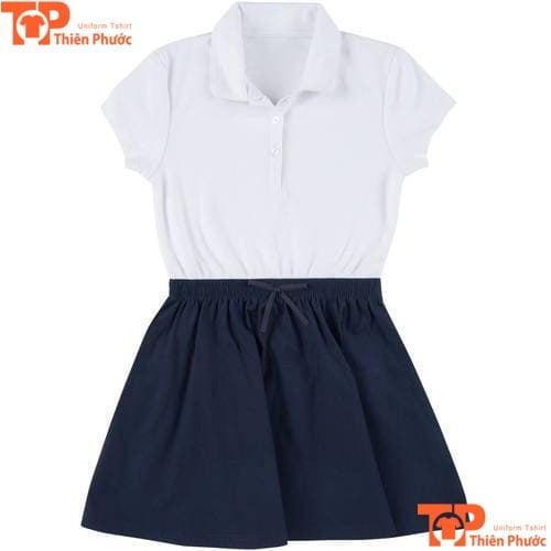 mẫu áo sơ mi đồng phục mầm non tay ngắn