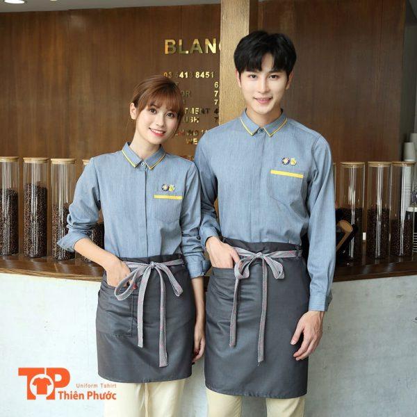 mẫu áo thun đồng phục quán cafe