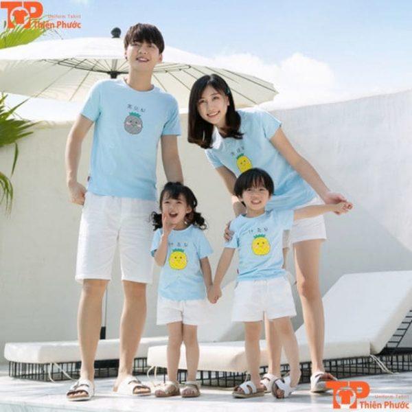 mẫu áo thun gia đình đi du lịch