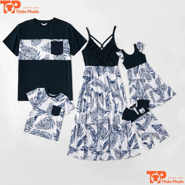 mẫu áo váy gia đình thiết kế sang trọng