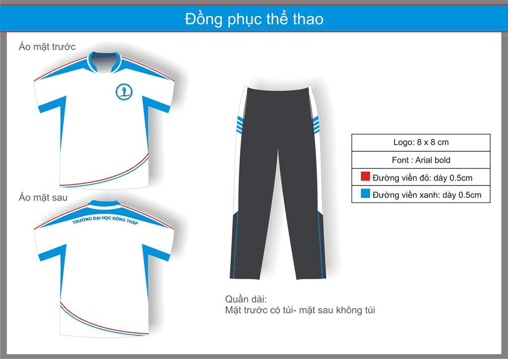 mẫu đồng phục thể thao tham khảo
