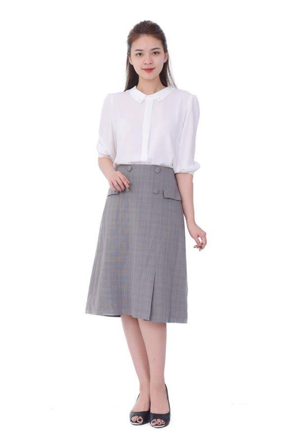mẫu chân váy đồng phục văn phòng nữ