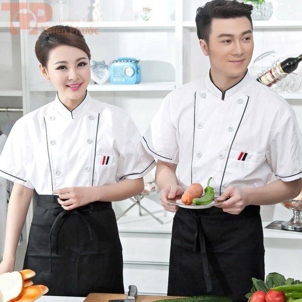 mẫu đồng phục bếp cho nam nữ