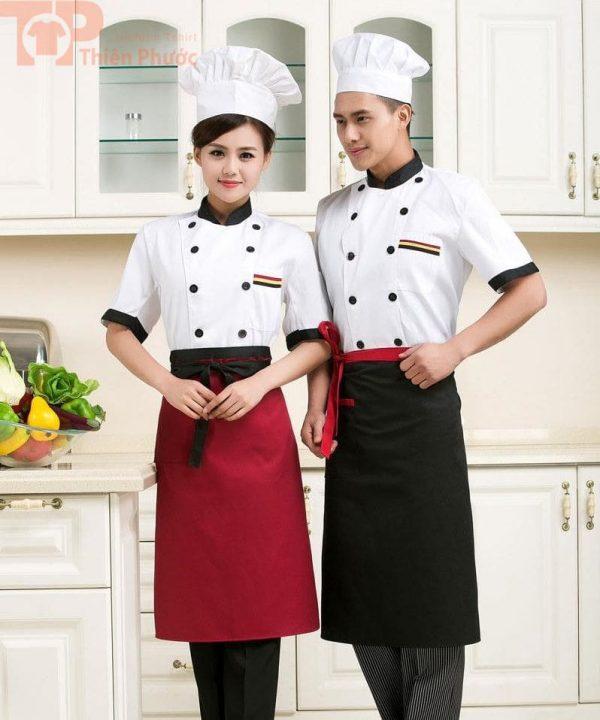 Mẫu đồng phục bếp đẹp nam nữ