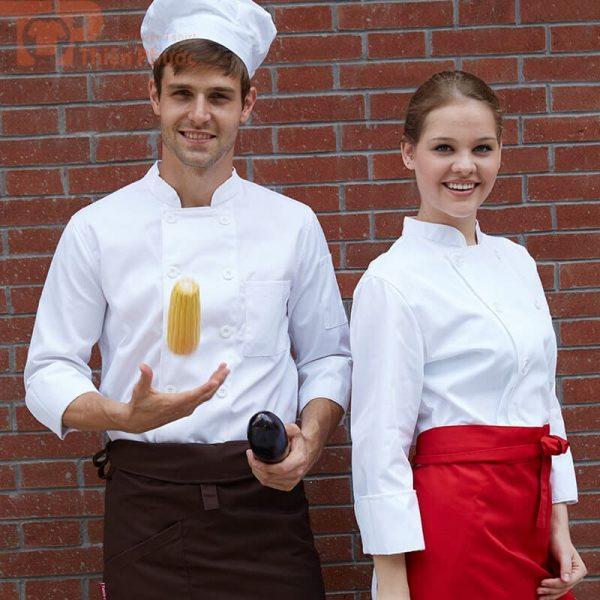 mẫu đồng phục bếp nam nữ đẹp