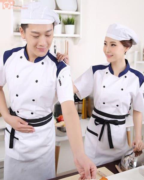 Mẫu đồng phục bếp nam nữ nhã nhặn