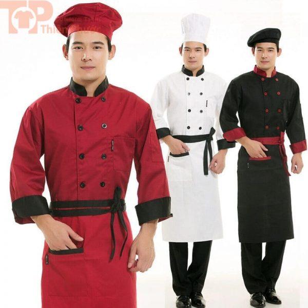 Mẫu đồng phục bếp nhiều màu