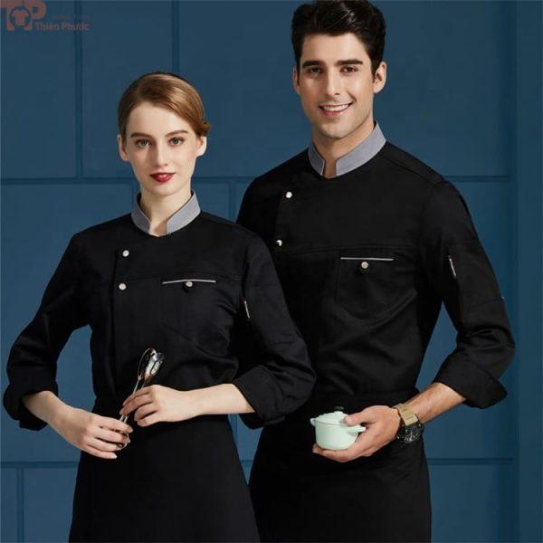 Mẫu đồng phục bếp sang trọng