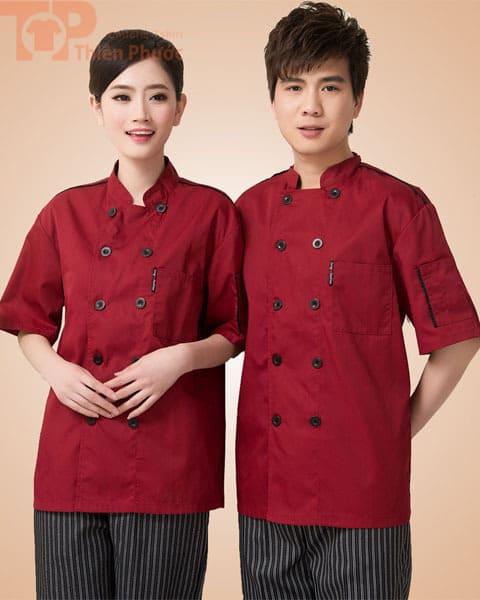 mẫu đồng phục cho bếp nam nữ