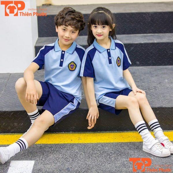 mẫu đồng phục học sinh mầm non tập thể dục