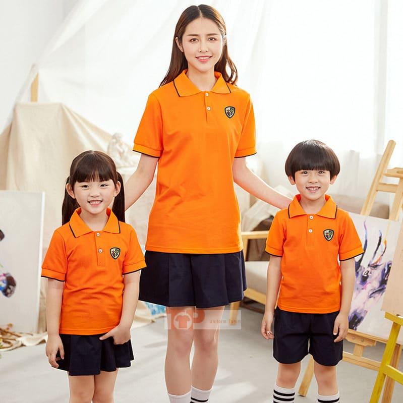 mẫu đồng phục mầm non da cam
