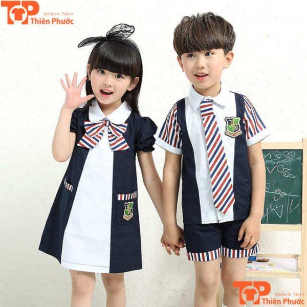 mẫu đồng phục mầm non đẹp cho bé