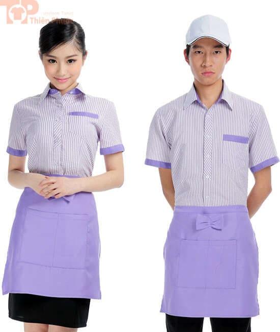 Mẫu đồng phục nhà bếp nam nữ