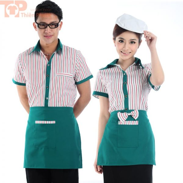 Mẫu đồng phục phục vụ bếp cho nam nữ