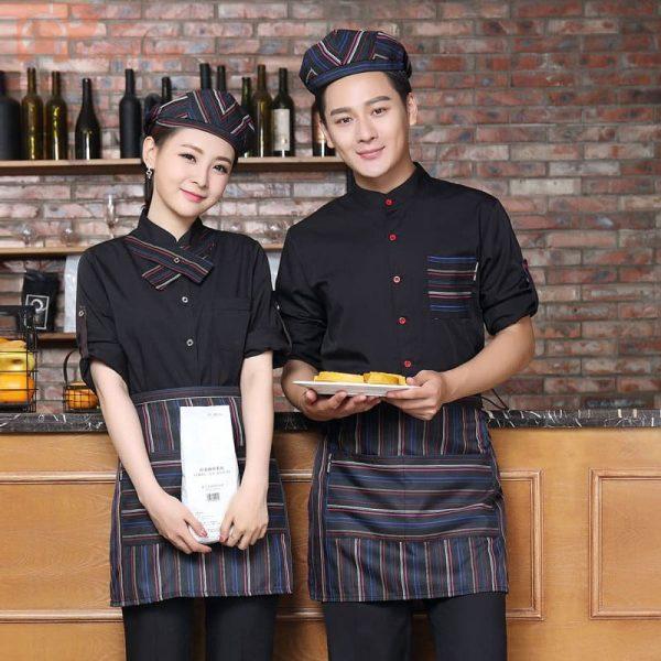 mẫu đồng phục phục vụ nhà bếp