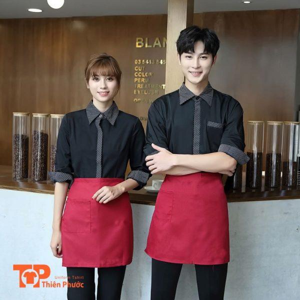 mẫu đồng phục quán cafe chuyên nghiệp