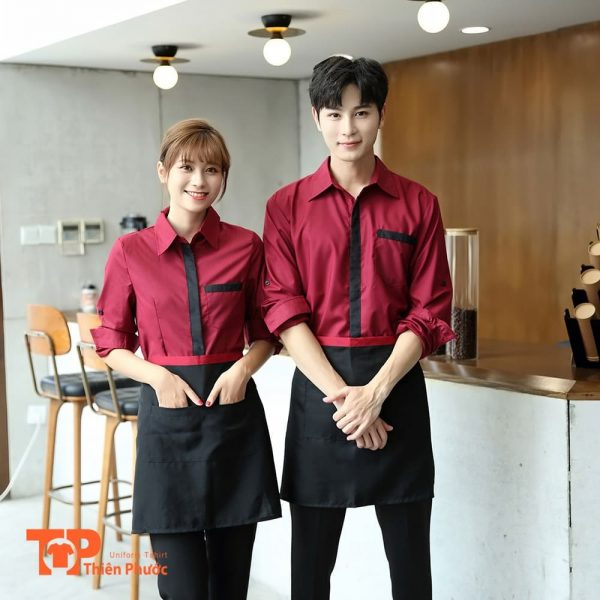 mẫu đồng phục quán cafe sang trọng