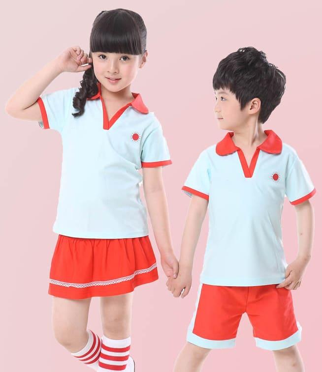 mẫu đồng phục thể thao học sinh tiểu học có cổ
