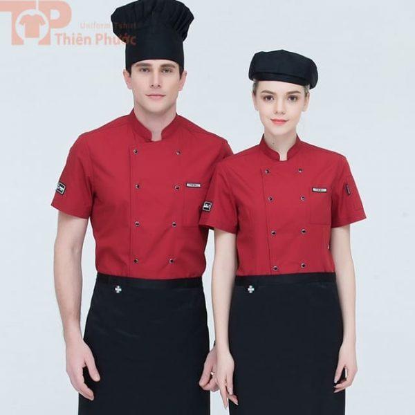 Mẫu trang phục bếp sang trọng cho nam nữ