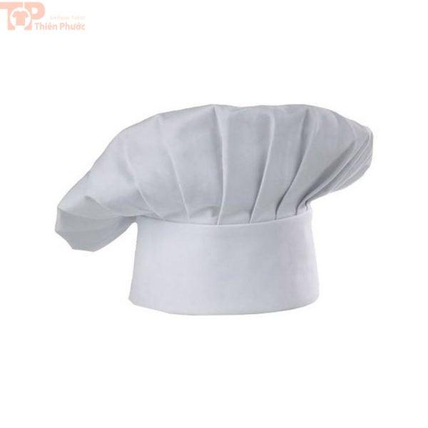 Nón bếp bánh phối đồng phục bếp trắng