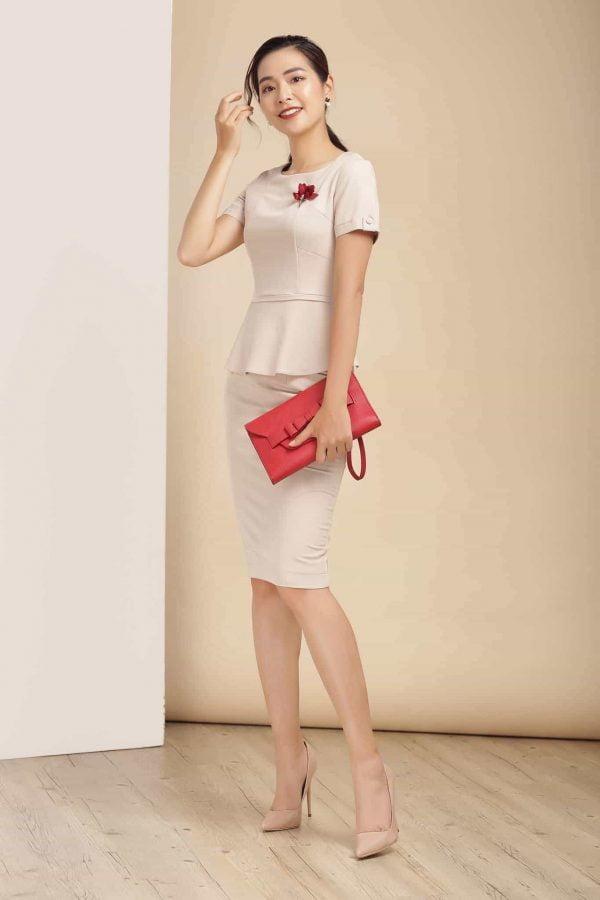 đồng phục đầm công sở nữ