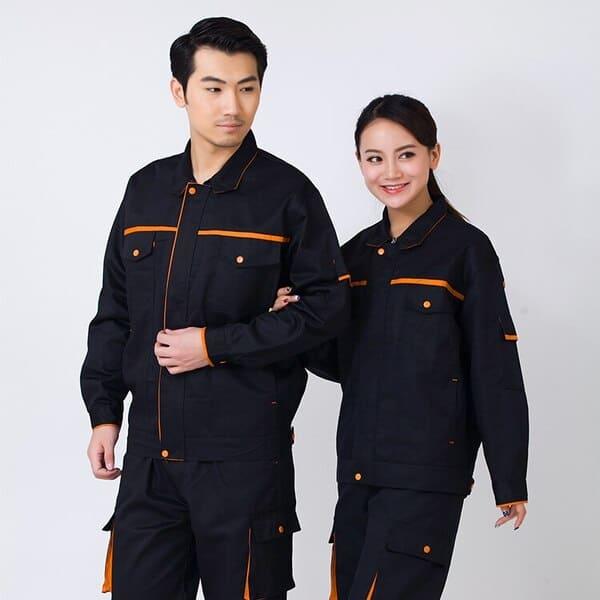 quần áo đồng phục công nhân cơ khí màu đen