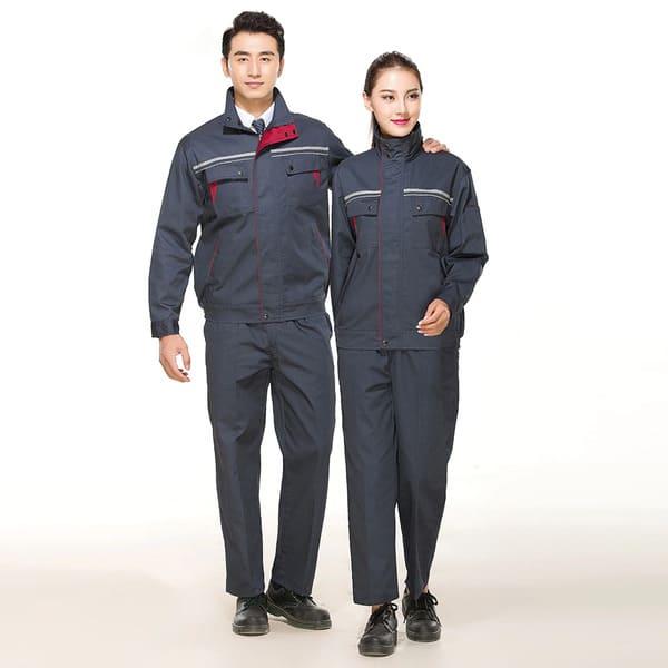 quần áo đồng phục công nhân cơ khí màu xám