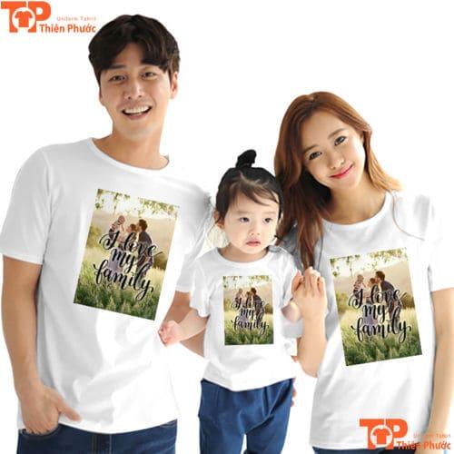quần áo gia đình 3 người tay ngắn