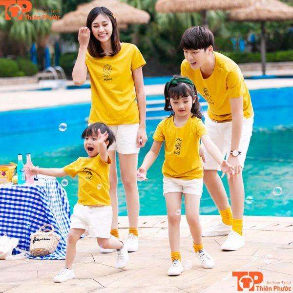 set áo gia đình bố mẹ và bé