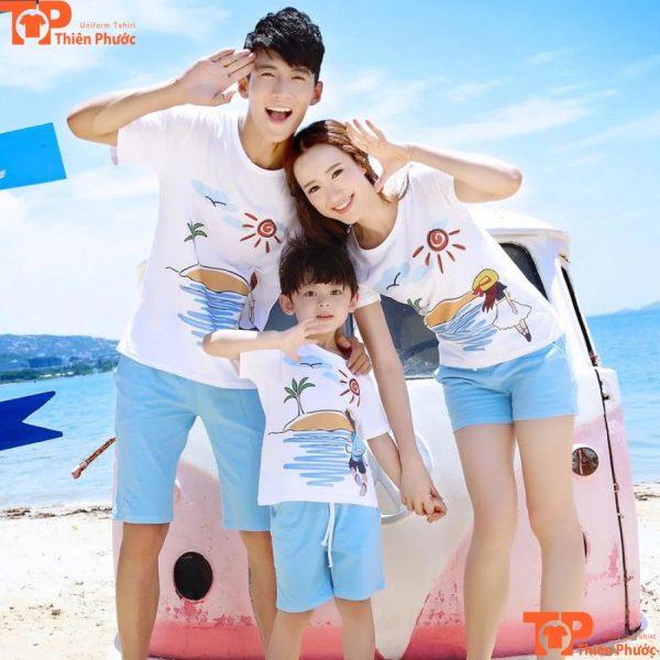 set áo thun gia đình 3 người đẹp