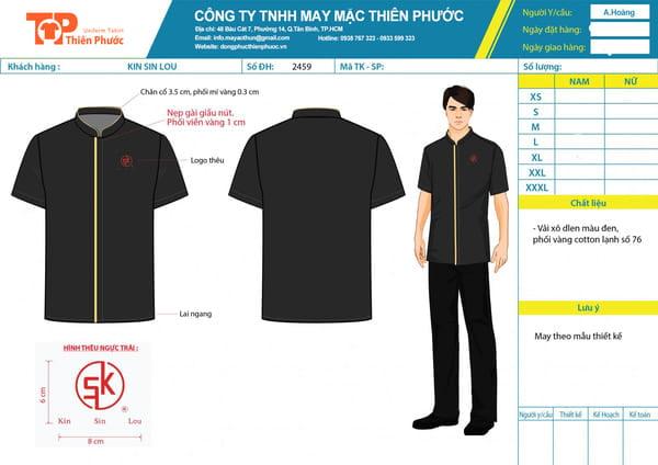 thiết kế đồng phục nhân viên khách sạn
