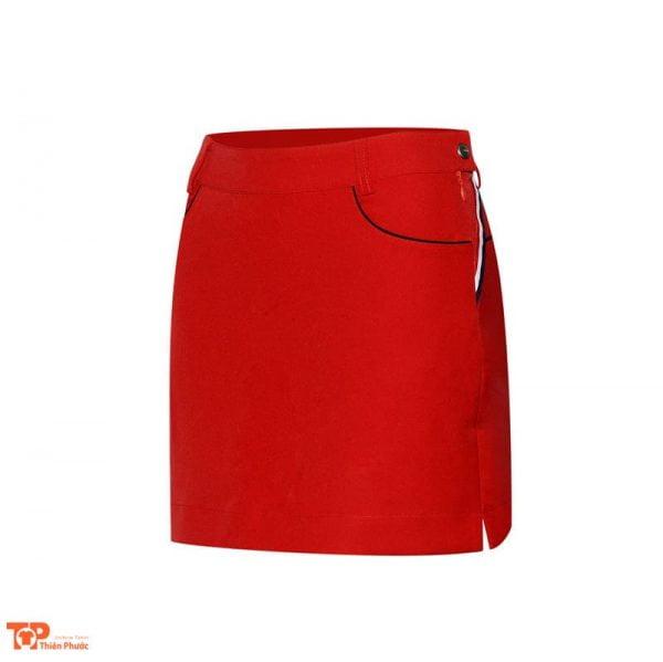 váy đồng phục công ty màu đỏ