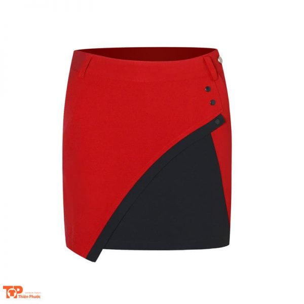 váy đồng phục công ty màu đỏ đen