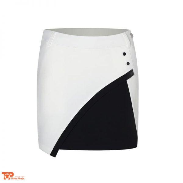 váy đồng phục công ty màu trắng đen