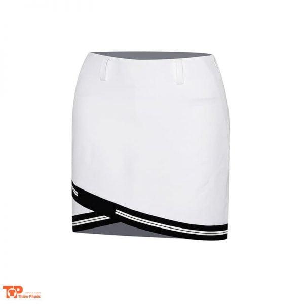 váy đồng phục công ty màu trắng viền đen