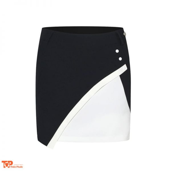 váy đồng phục công ty nữ màu đen trắng