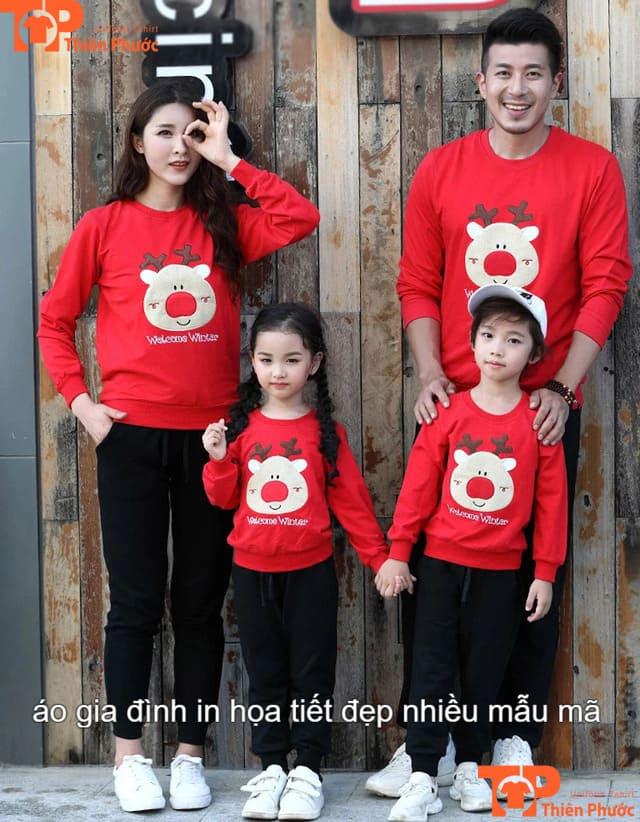 áo đồng phục gia đình in họa tiết đẹp