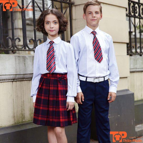 Áo đồng phục học sinh nam nữ tay dài