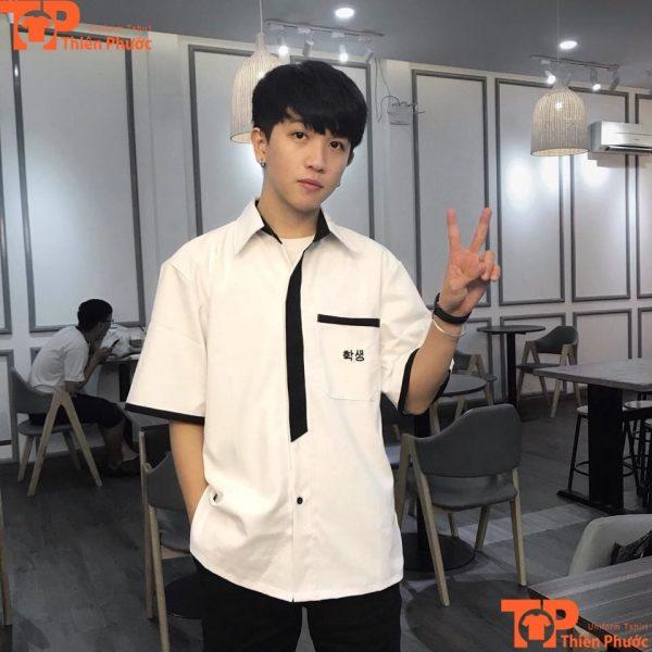 Áo đồng phục học sinh nam tay ngắn