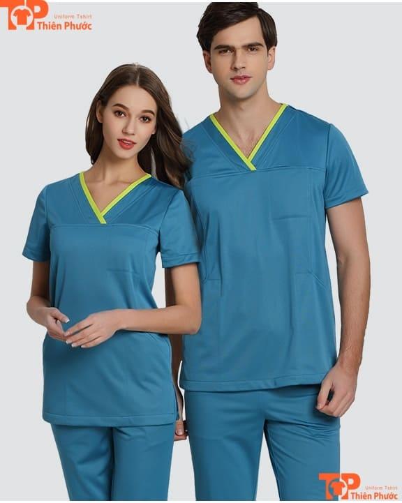 áo đồng phục spa nam nữ