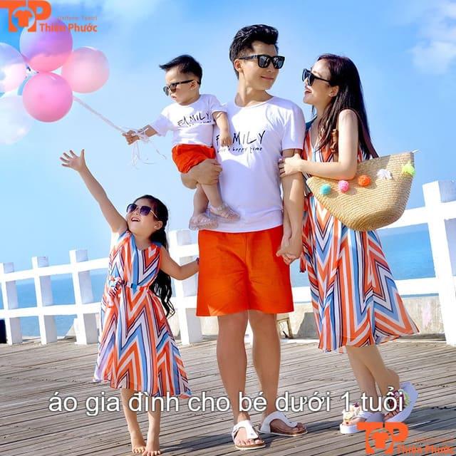 áo gia đình cho trẻ dưới 1 tuổi