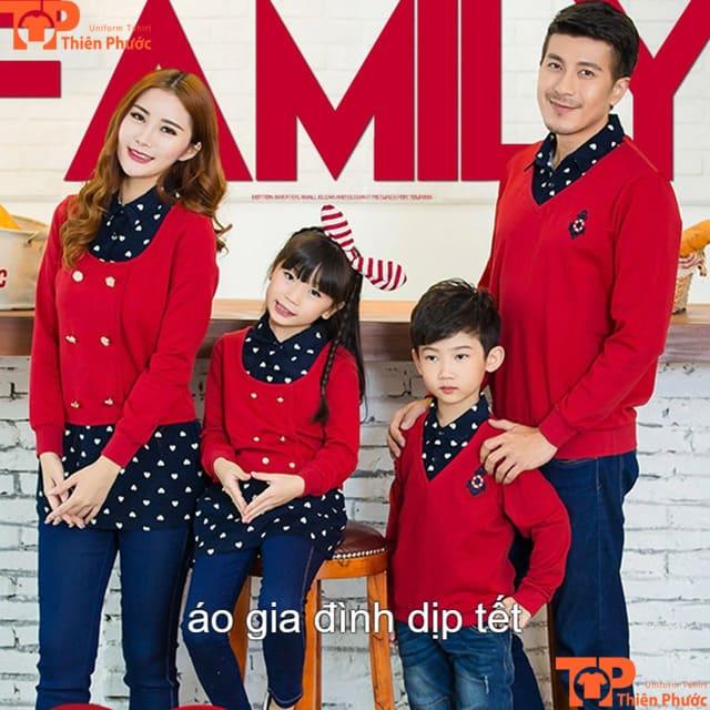 áo gia đình mùa tết