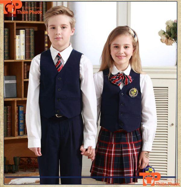 Áo gile đồng phục học sinh tiểu học