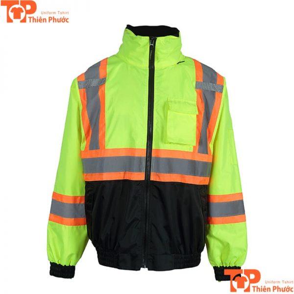 áo khoác bảo hộ lao động kín cổ
