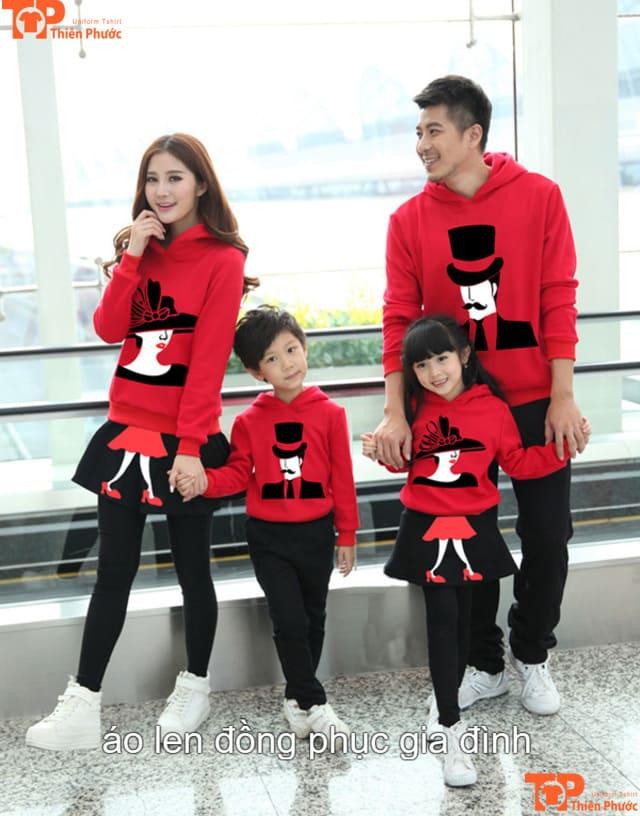 áo len gia đình