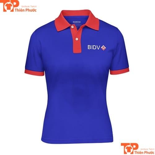 áo thun đồng phục ngân hàng bidv cho nữ