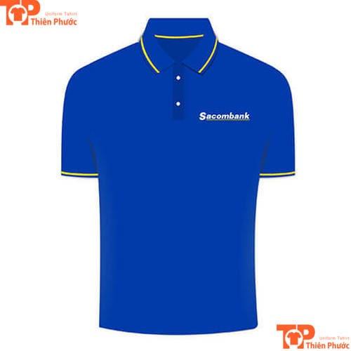 áo thun đồng phục ngân hàng sacombank