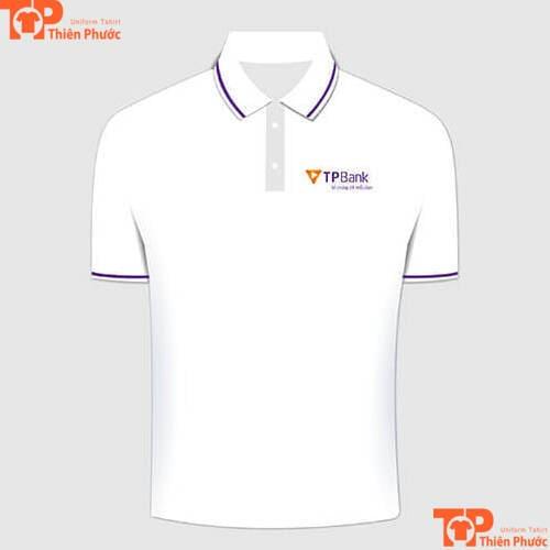áo thun đồng phục ngân hàng tpbank cổ trụ
