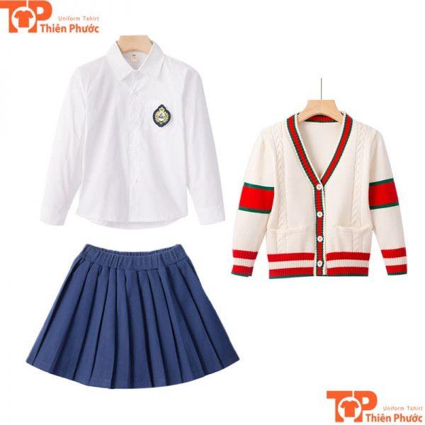 Áo váy đồng phục học sinh cấp 2 đẹp